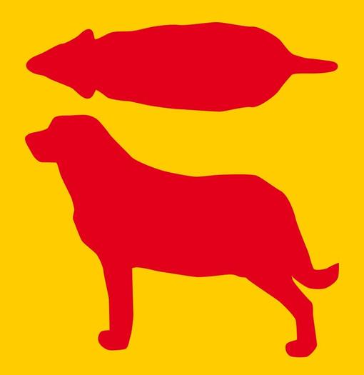 Hundesilhouette zu dick