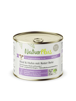 NaturPlus Adult Rind & Huhn mit Roter Bete Hund Nassnahrung