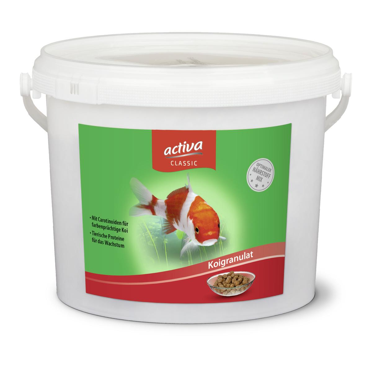 activa CLASSIC Koigranulat Hauptfutter für Zierfische im Gartenteich