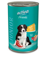 activa Friends Hund Huhn & Rind - Junior-Nassnahrung