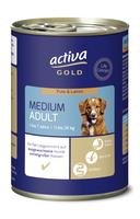 activa GOLD Nassnahrung Hund Medium Adult Pute und Lamm