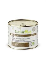 NaturPlus Senior  Huhn & Rind mit Karotte Hund Nassnahrung