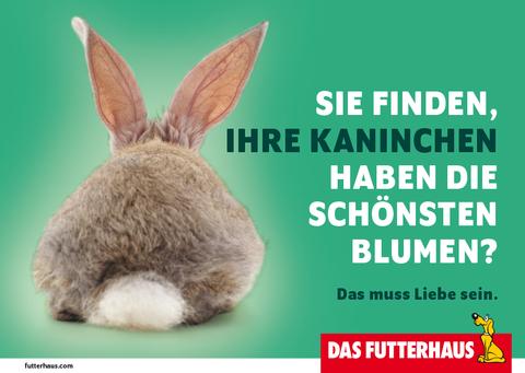 Sie finden, Ihre Kaninchen haben die schönsten Blumen? - eCard