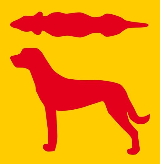 Hundesilhouette zu dünn