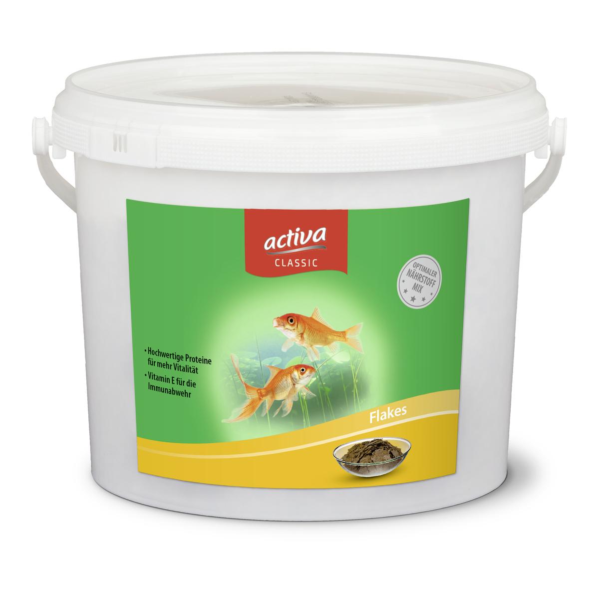 activa CLASSIC Flakes Hauptfutter für Zierfische im Gartenteich