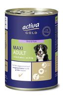 activa GOLD Nassnahrung Hund Maxi Adult Rind und Pute