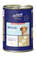 activa GOLD Nassnahrung Hund Medium Junior Rind