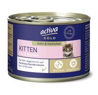 activa GOLD Nassnahrung Katze Kitten Huhn & Kaninchen
