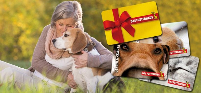 Die Geschenkkarte von DAS FUTTERHAUS