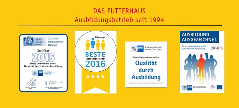 Zertifikate von DAS FUTTERHAUS