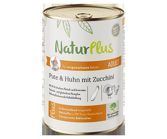 NaturPlus Katze Nassnahrung Adult Pute Huhn Zucchini