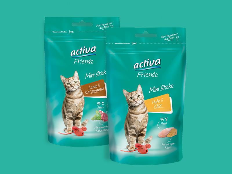 DAS FUTTERHAUS activa Friends Katze Snacks