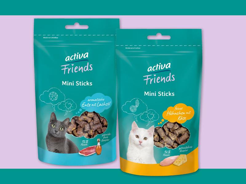 DASFUTTERHAUS activa Friends Katze Snacks