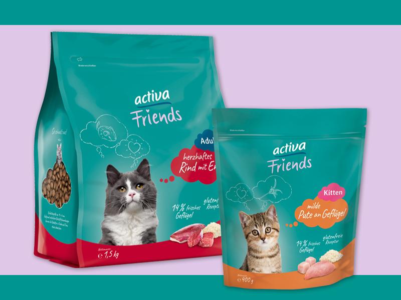 DASFUTTERHAUS activa Friends Katze Trockenfutter