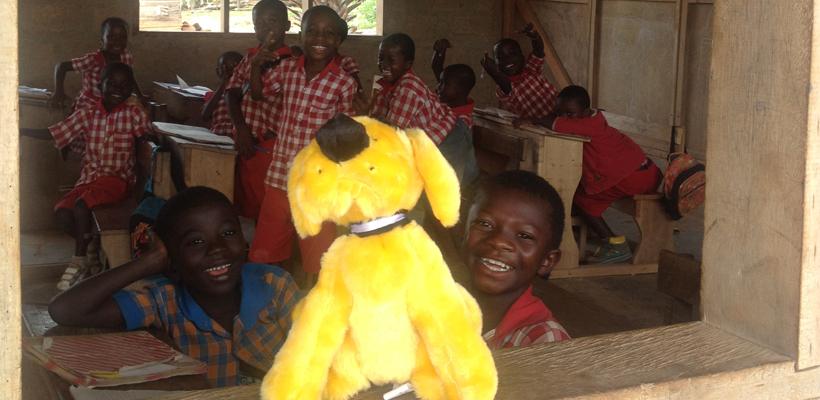 Der gelbe Hund in Afrika
