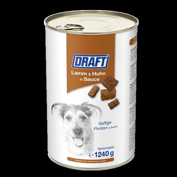DRAFT Hund Lamm Huhn in Sauce