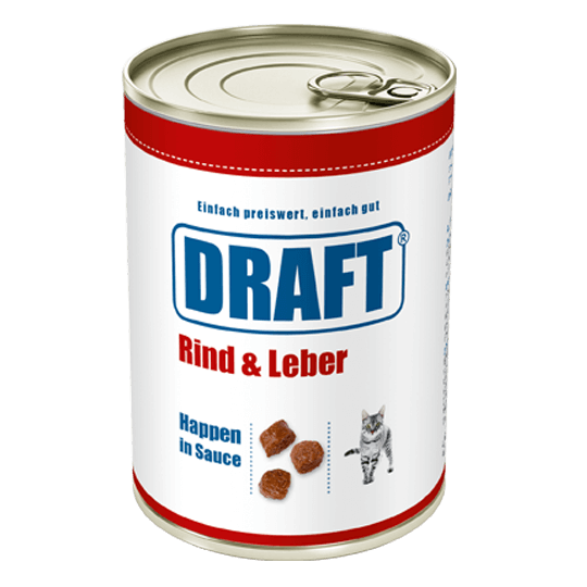 DRAFT Katzennassnahrung Rind-Leber in Sauce