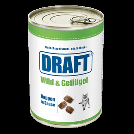 DRAFT Katzennassnahrung Wild-Gefluegel in Sauce