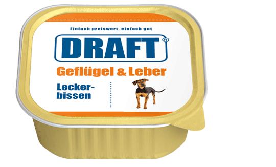 DRAFT Hundenassfutter Schale Gefluegel-Leber
