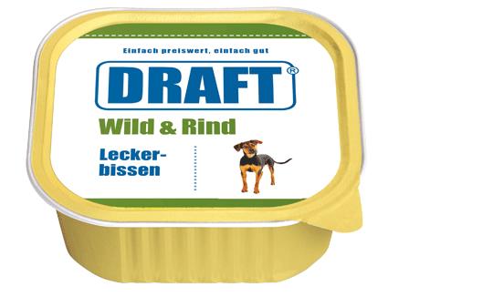 DRAFT Hundenassfutter Schale Wild-Rind