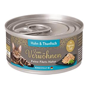 Zum Verwoehnen Feine Filets Natur Huhn Thunfisch