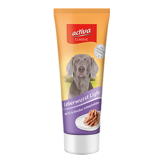 activaCLASSIC Hund Tube Leberwurst light