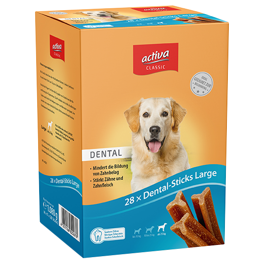 activa CLASSIC Snacks Hund Dental-Sticks Large
