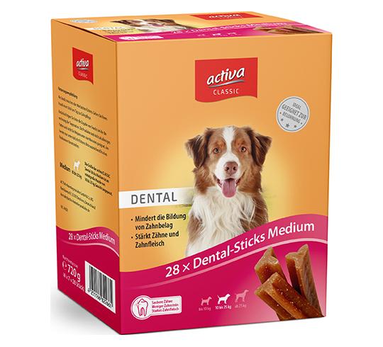 activa CLASSIC Snacks Hund Dental-Sticks Medium