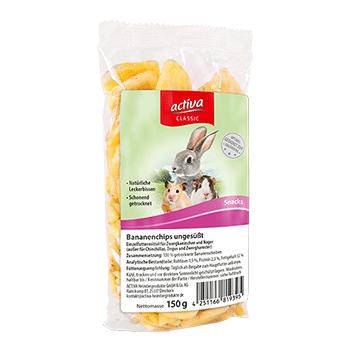 activa CLASSIC Bananenchips ungesüßt