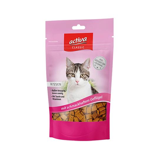 activa CLASSIC Knusperkissen für Katzen mit schmackhaftem Geflügel 60g