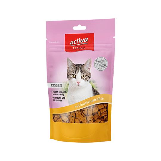activa CLASSIC Knusperkissen für Katzen mit köstlichem Kaese 60g