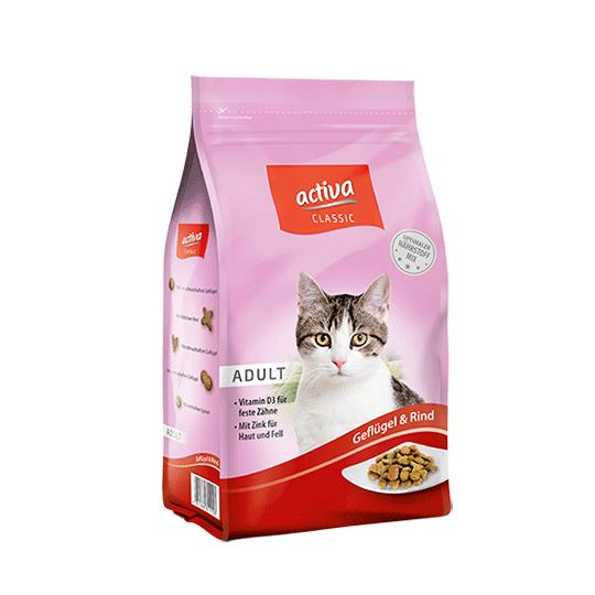 activa Classic Katze Trockenfutter Adult Gefluegel Rind