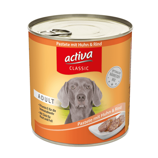 activa CLASSIC Hund Dose Adult Pastete Huhn Rind