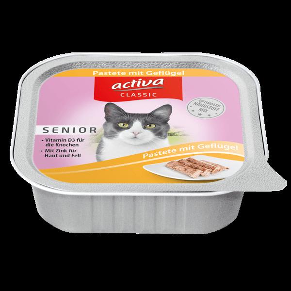 activa CLASSIC Katze Senior Pastete mit Geflügel