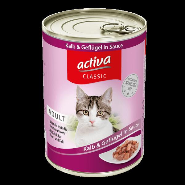 activa CLASSIC Katze Adult Dose Kalb & Gefluegel in Sauce
