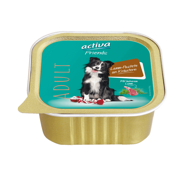 activa Friends Hund Adult Lamm Pastete