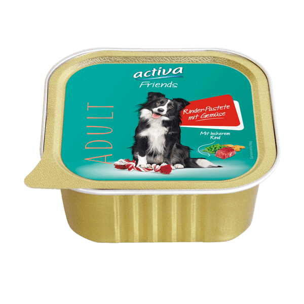 activa Friends Hund Adult Rinder Pastete