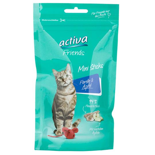 activa-Friends-Katze-Mini-Sticks-Forelle-Apfel-55g