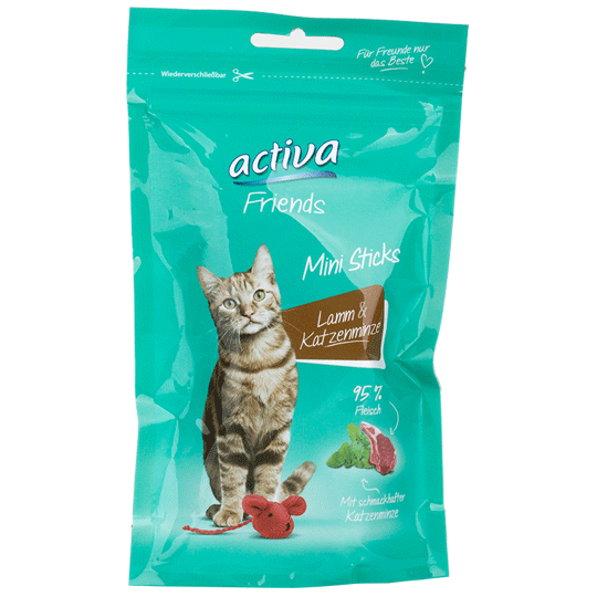 activa-Friends-Katze-Mini-Sticks-Lamm-Katzenminze-55g