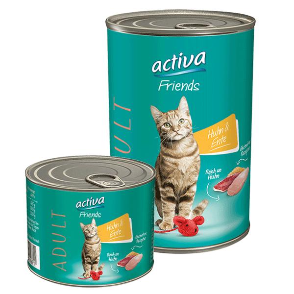 activa Friends Katze Adult 200g + 400g Huhn und Ente