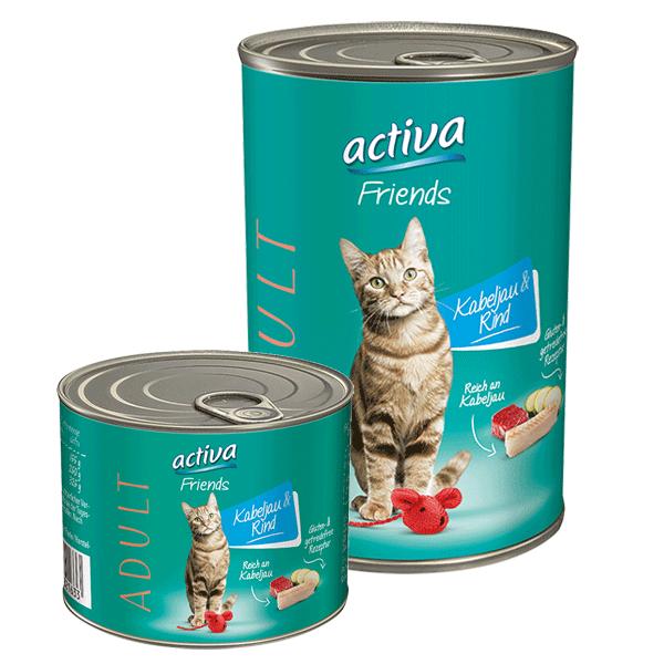 activa Friends Katze Adult Kabeljau & Rind