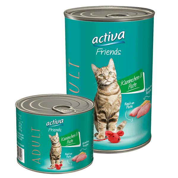 activa Friends Katze Adult 200g + 400g Kaninchen und Pute