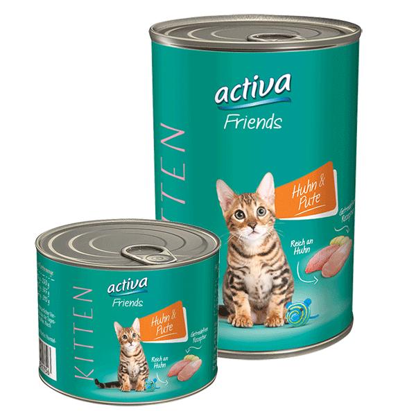 activa Friends Katze Kitten 200g + 400g Huhn und Pute