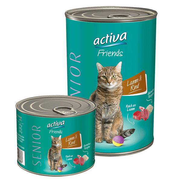 activa Friends Katze Senior 200g + 400g Lamm und Rind