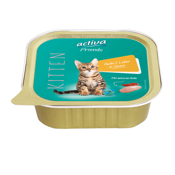 activa Friends Katze Kitten Huhn & Leber in Sauce
