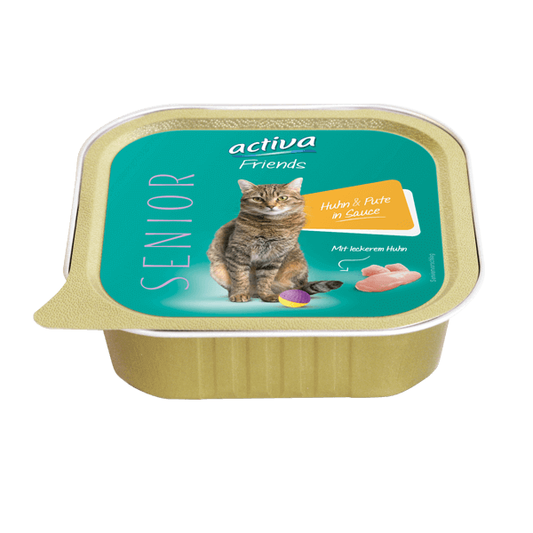 activa Friends Katze Senior Huhn & Pute in Sauce