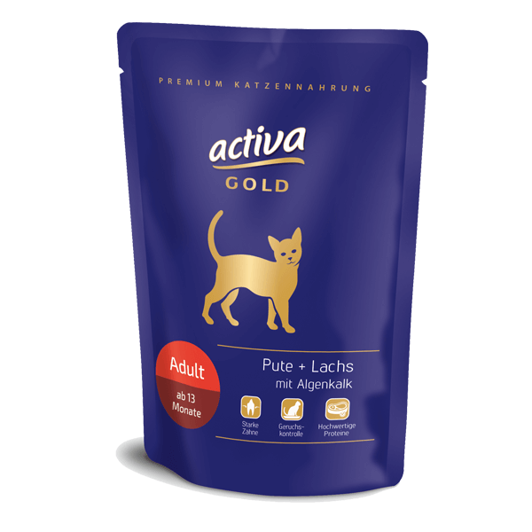 Activa Gold Adult Pouch Pute Lachs