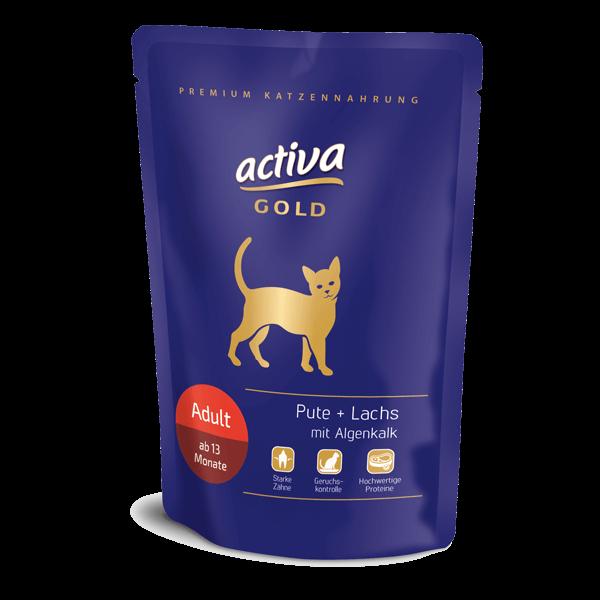 Activa Gold Katze Adult Pouch Pute Lachs