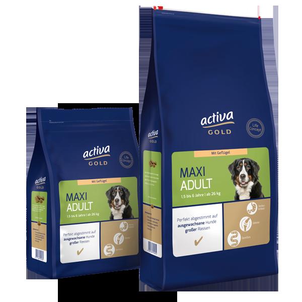 Activa Gold Hund Trockennahrung Maxi Adult Geflügel
