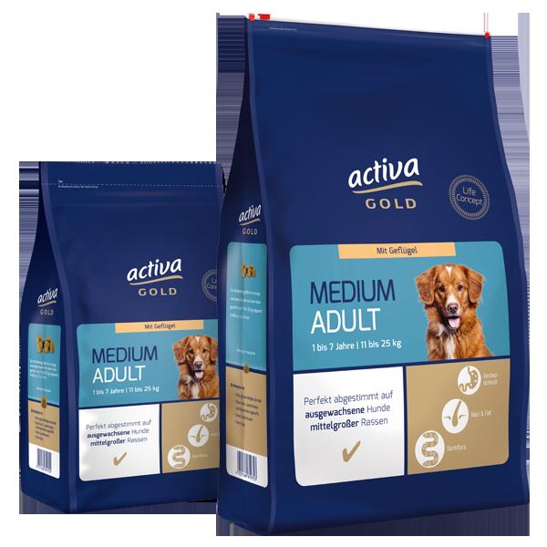 Acitva Gold Hund Trockennahrung Medium Adult Geflügel